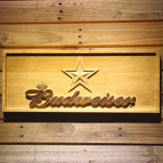Dallas Cowboys Budweiser Wood Sign neon sign LED