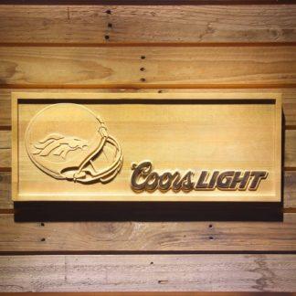 Denver Broncos Coors Light Helmet Wood Sign neon sign LED