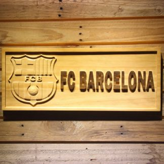FC Barcelona Wood Sign neon sign LED