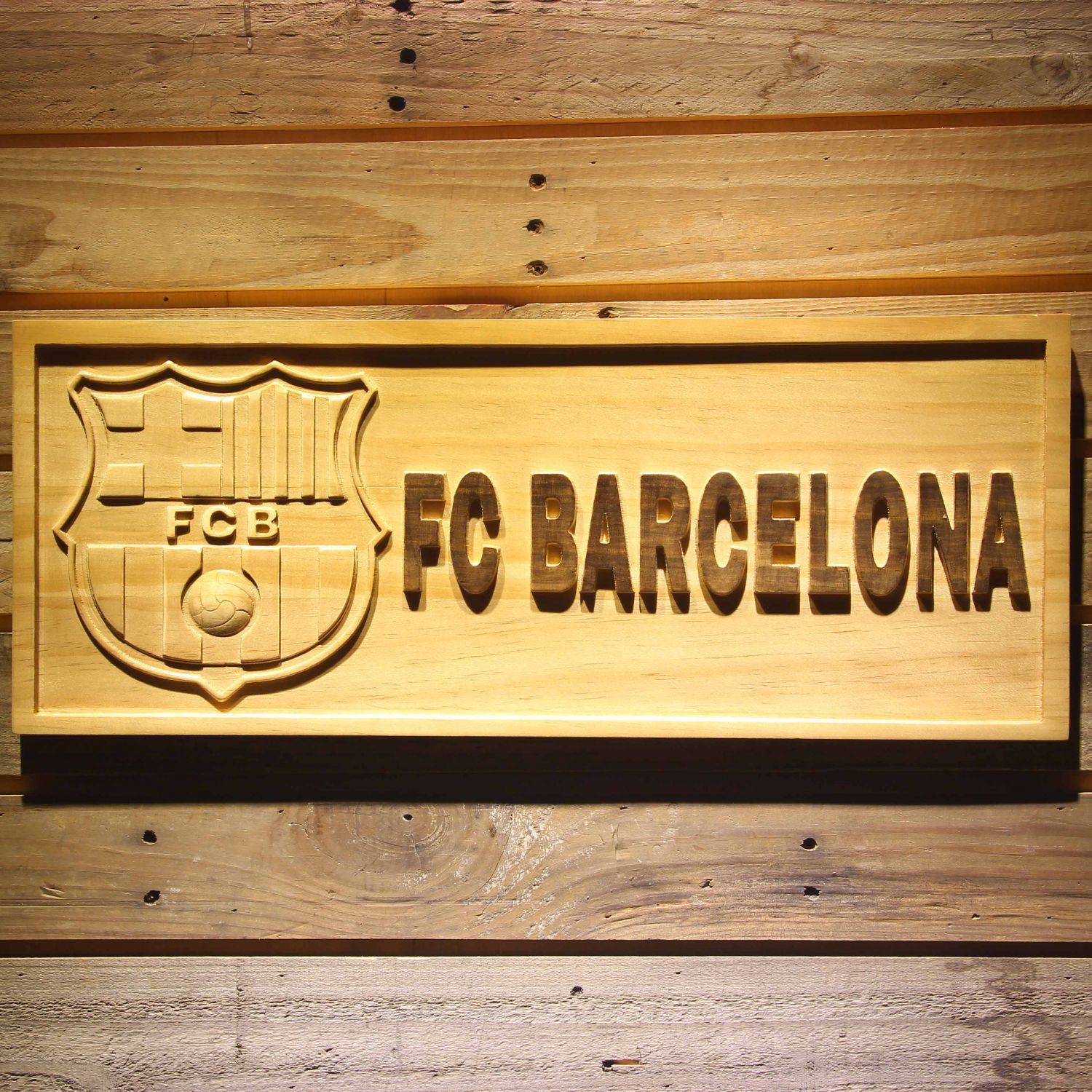 Fc Barcelona Wood Sign Neon Sign Led Sign Shop What S Your Sign