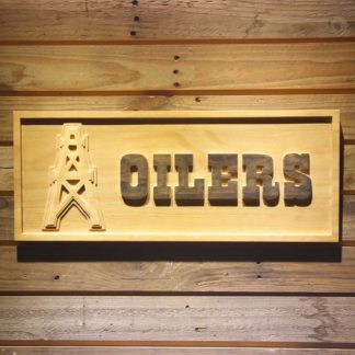 Houston Oilers 1980-1996 Wood Sign - Legacy Edition neon sign LED