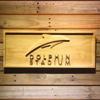 Miami Dolphins Dolphin Stadium Wood Sign - Legacy Edition neon sign LED