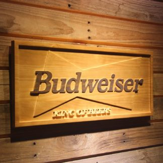 Budweiser King of Beers Wood Sign neon sign LED