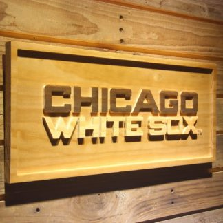 Chicago White Sox 3 Wood Sign neon sign LED