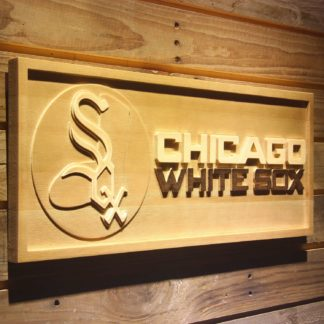 Chicago White Sox 1971-1975 2 Wood Sign - Legacy Edition neon sign LED