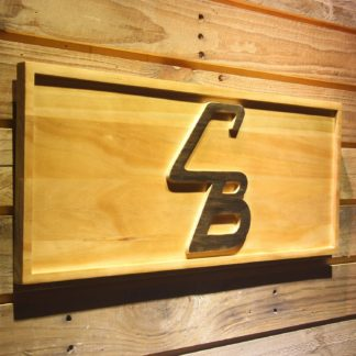 Cleveland Browns Unused CB Logo Wood Sign - Legacy Edition neon sign LED