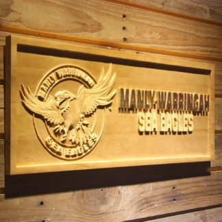 Manly-Warringah Sea Eagles Wood Sign neon sign LED