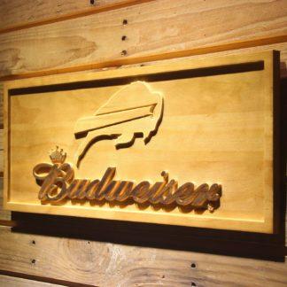 Buffalo Bills Budweiser Wood Sign neon sign LED