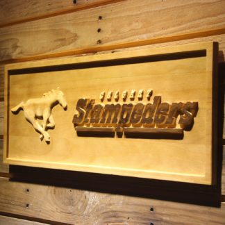 Calgary Stampeders Horse Outline Wood Sign neon sign LED