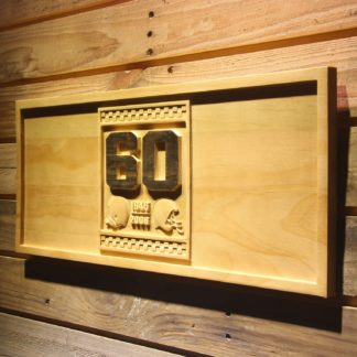 Cleveland Browns 60th Anniversary Logo Wood Sign - Legacy Edition neon sign LED