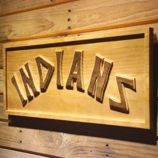 Cleveland Indians 1975-1977 Wood Sign - Legacy Edition neon sign LED