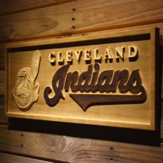 Cleveland Indians Wood Sign neon sign LED