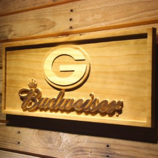 Green Bay Packers Budweiser Wood Sign neon sign LED
