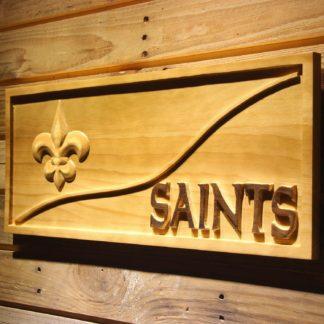 New Orleans Saints Split Wood Sign neon sign LED