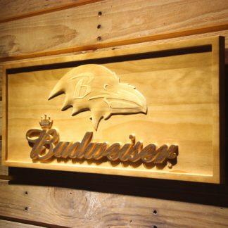 Baltimore Ravens Budweiser Wood Sign neon sign LED