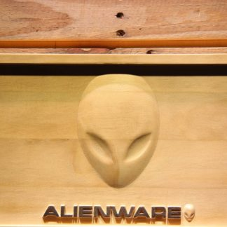 Alienware Wood Sign neon sign LED