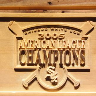 Chicago White Sox 2005 Champion Logo A Wood Sign - Legacy Edition neon sign LED