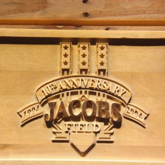 Cleveland Indians Jacobs Field 10th Anniversary Wood Sign - Legacy Edition neon sign LED