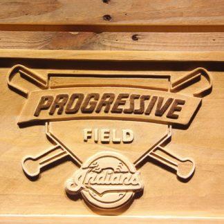 Cleveland Indians Progressive Field Wood Sign neon sign LED