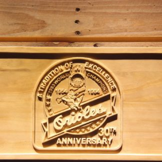 Baltimore Orioles 30th Anniversary Logo Wood Sign - Legacy Edition neon sign LED