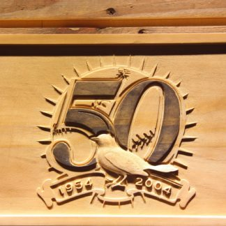 Baltimore Orioles 50th Anniversary Logo Wood Sign - Legacy Edition neon sign LED