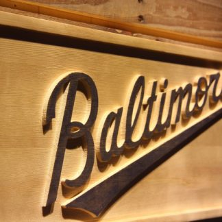 Baltimore Orioles 3 Wood Sign neon sign LED