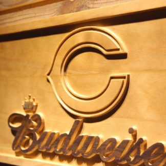 Chicago Bears Budweiser Wood Sign neon sign LED