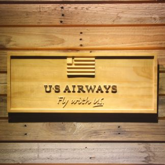 US Airways Fly With US Wood Sign neon sign LED