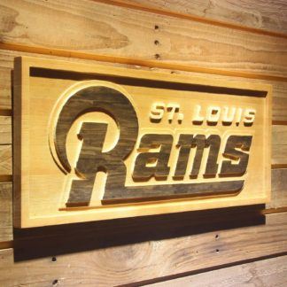 St Louis Rams 2000-2015 Text Wood Sign - Legacy Edition neon sign LED