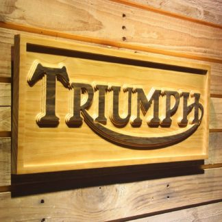 Triumph Old Logo Wood Sign neon sign LED