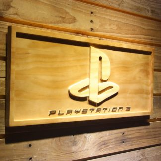 PlayStation PS3 Wood Sign neon sign LED