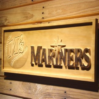 Seattle Mariners 1987-1992 Wood Sign - Legacy Edition neon sign LED