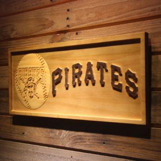 Pittsburgh Pirates Baseball Wood Sign - Legacy Edition neon sign LED