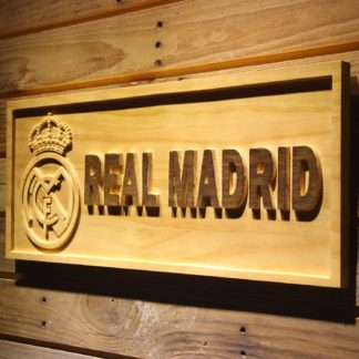 Real Madrid CF Crest Wood Sign neon sign LED