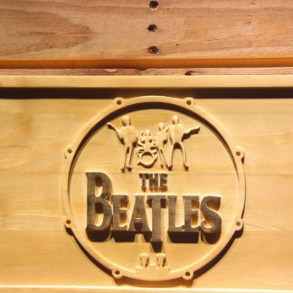 The Beatles Logo in Bass Drum Wood Sign neon sign LED
