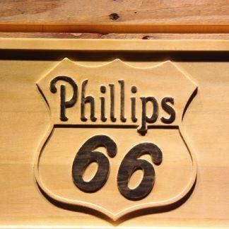 Phillips 66 Gasoline Wood Sign neon sign LED