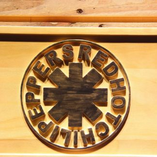 Red Hot Chili Peppers Wood Sign neon sign LED
