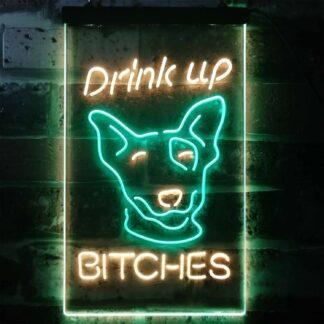 Bud Light Drink Up Dog LED Neon Sign neon sign LED