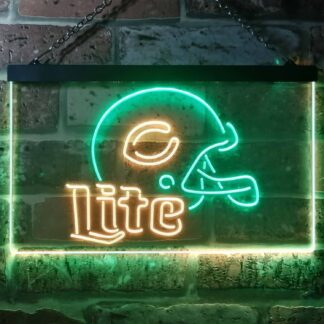 Chicago Bears Helmet Miller Lite LED Neon Sign neon sign LED