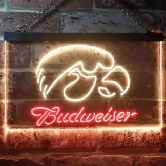 Iowa Hawkeyes Budweiser LED Neon Sign neon sign LED