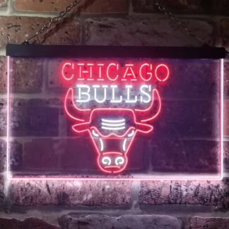 Chicago Bulls Logo 1 LED Neon Sign - Legacy Edition neon sign LED