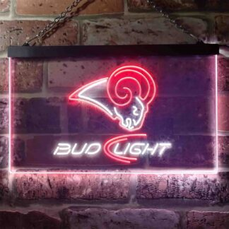 Los Angeles Rams Bud Light LED Neon Sign neon sign LED