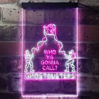 Ghostbusters Who Ya Gonna Call? LED Neon Sign neon sign LED